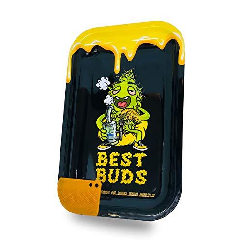 Vip Vape Best Buds - Bandeja de metal con ruedas (17,5 x 27,5 x 2 cm)