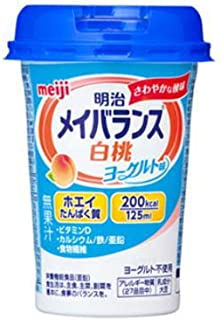 【12個】明治メイバランスMiniカップ 白桃ヨーグルト味 4902705004184-12