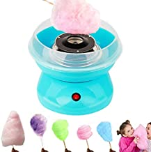 JIHNM Cotton Candy Machine, Nostalgia Mini Cotton Candy Makers for Kids, Sugar Free Electric Countertop Hard Candy Machine Kit,for Birthdays, Weddings, New Years, Family Party, Creative Gift (Blue)