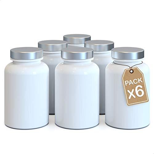 LG Luxury & Grace Pack 6 Botes de Polipropileno, 150 ml. Envases Vacíos con Tapón a Rosca. Frascos de Uso Doméstico y Profesional. Contenedores de Almacenamiento para Laboratorios y Hogar.