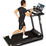 FUNMILY Folding Treadmill, 2.25HP Folding Treadmill with Large Desk and Bluetooth Speaker, Portable...