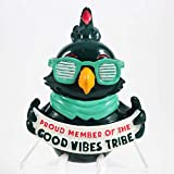 Cheersville Hipster Shelfee - Cockatoo: Proud Member of The Good Vibes Tribe - Office Desk Decoration - Employee Recognition Award - Employee Appreciation Gift