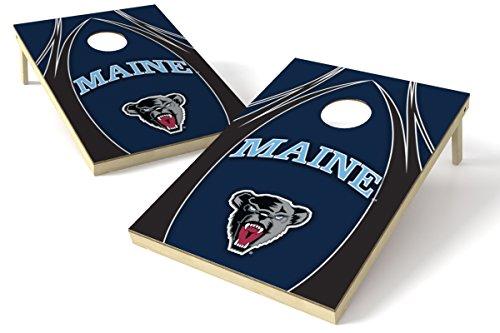 Wild Sports NCAA Maine Black Bears 2 x 3 Platinum College V Logo Wood Tailgate Toss, 24' x 36', Multi