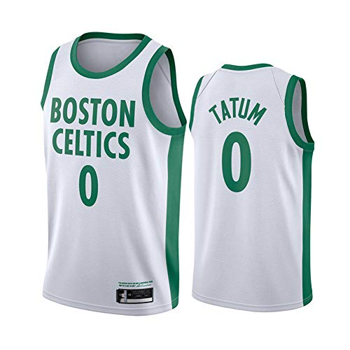 Camiseta de baloncesto de la NBA Boston Celtics 0# Jayson Tatum cómoda/ligera/transpirable bordada de malla Swingman retrot-Shirt Sudadera, XL