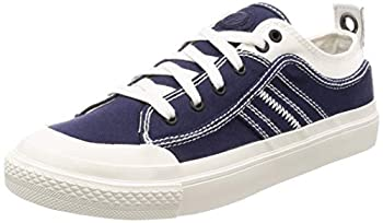 Diesel Men s S-ASTICO Low LACE-Sneakers Star White/Peacoat Blue 10 M US