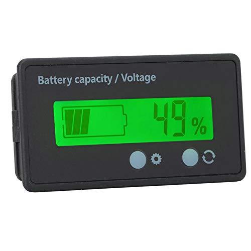 Eficiente 12-84V Equipado con un interruptor Pantalla de capacidad de la batería Indicador de capacidad de la batería Superficie de película de PVC Conozca de(Green light)
