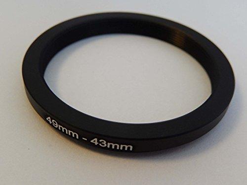 vhbw Step Down Adapter Ring Filteradapter 49mm-43mm schwarz passend für Kamera Agfa, Agfaphoto, Canon, Casio, Fujifilm, Kodak, Minolta, Nikon, Olympus