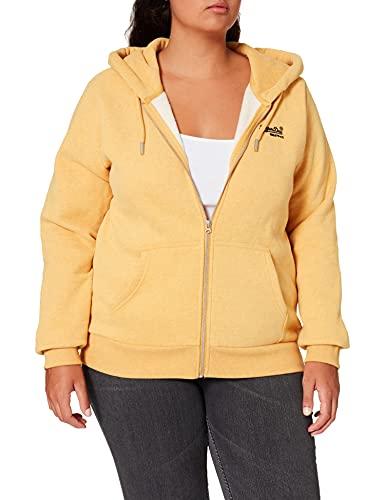 Superdry Womens W2010742A Hooded Sweatshirt, Ochre Marl, M