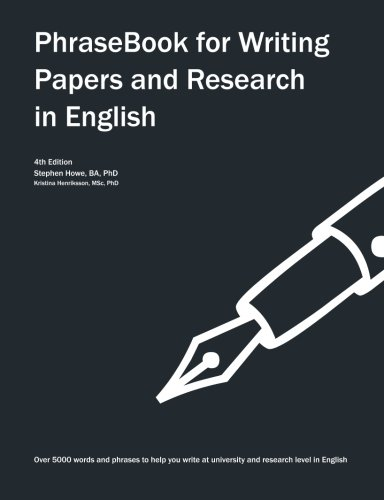 PhraseBook for Writing Papers and Research in English