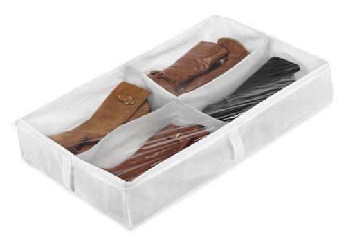 Whitmor - Bolsa para botas bajo la cama, 4 secciones