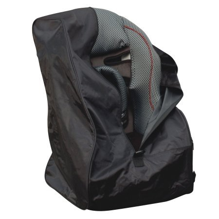 Jeep Car Seat Travel Bag, Universal Size Car Seat Cover, Fits All Car Seats, Shoulder Strap Included, For Airport Gate Check-In, Infant and Baby Carrier Travel Bag, Black, Nylon Massachusetts