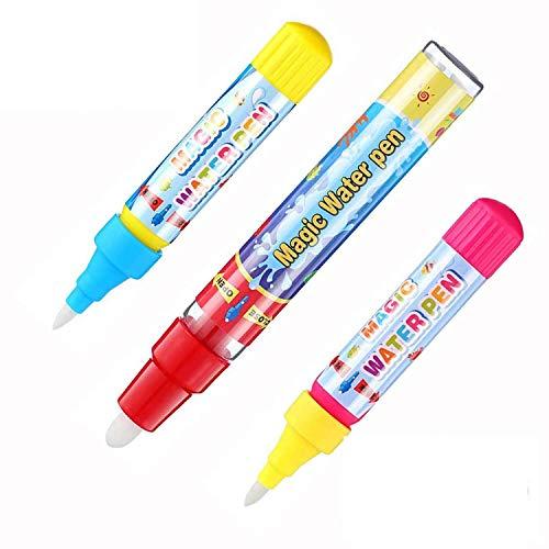 お絵かきシート 用 ペン 6本セットお絵かき お絵かきペン 落書き 絵描きシート用 ぬりえペン 水で補充 健康無毒 子供 水で描く 知育玩具 水 ぬりえ 誕生日 プレゼント 専用ペン (3本セット)