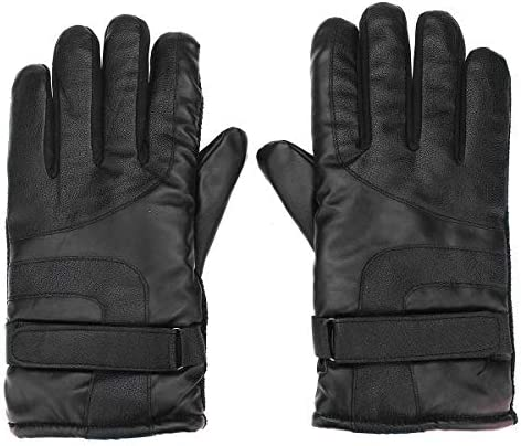 Lupovin-Keep Warm Motorcycle Gloves Winter Strong Raincoat Windproof Protective Gloves Waterproof for Men Women Non-Slip (Color : Black)