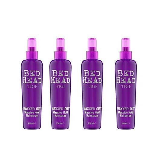 Tigi Bed Head Maxxed Out Massive Hold Haarsprays, je 236 ml, 4 Stück