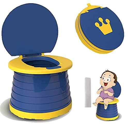 Vasino per Bambini 2 in 1 Vasino da Viaggio per Addestramento Vasino da Portare Ovunque per Ragazzi e Ragazze - SVTEOKO (Blu)