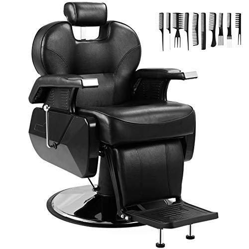 Barber Chairs Heavy Duty All Purpose Salon Chair Hydraulic Recline Barber Chair Beauty Salon...