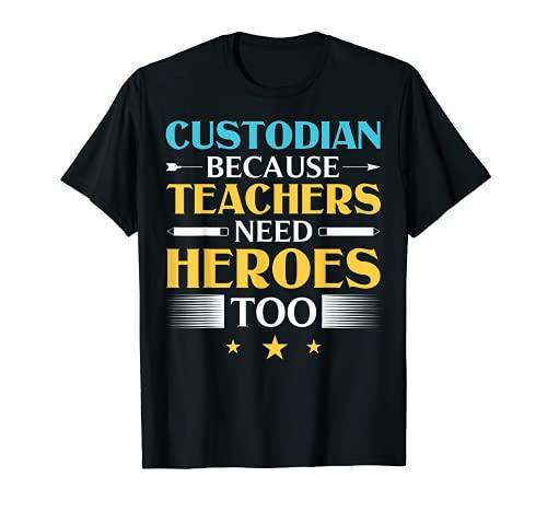 Custodio Disfraz Conserje Ropa Escuela Custodio Camiseta