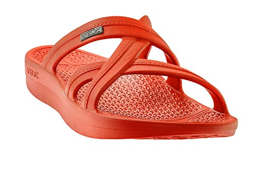 Telic Mallory 2.0 Sandal - Premium Soft Arch Support Comfort Sandals for Women | S (Women's 8) Island Coral