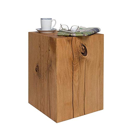 Side Table Accent Furniture Wooden Style Rustic Side End Table Natural Wood Tree Stump Live Edge Stool Stand Home Decoration (Color : Natural, Size : 32x32x60cm)