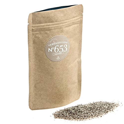 Bio Vanille Zucker N°653   Großpackung 500g   echte Bio Bourbon Vanille an feinem Zucker