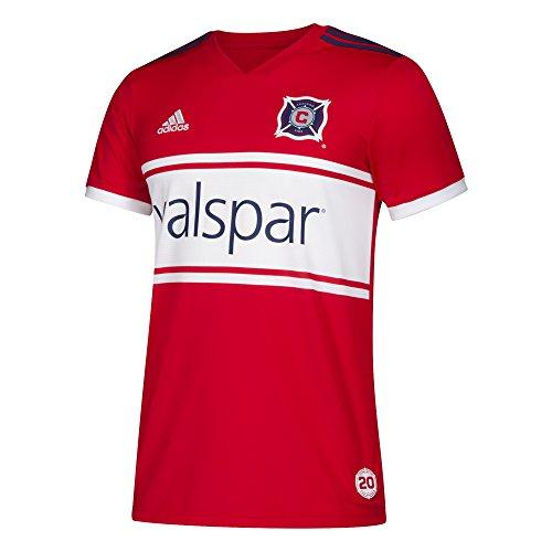 adidas Jrsy Herren Trikot Ss M Replica MLS Replica, Herren, Adidas MLS Herren Replik-Trikot, Jrsy Ss M Replica, scharlachrot, X-Large