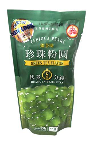 WuFuYuan - Green Tea Tapioca Pearl (Net Wt. 8.8 Oz.) by WuFuYuan