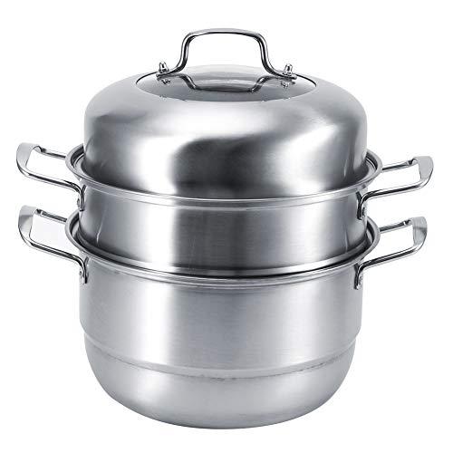 Rehomy Olla de doble capa de acero inoxidable multiusos para sopa y sopa