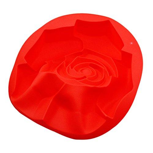 Blesiya Jelly Molde de silicona para tartas DIY molde para hornear latas sartenes decorar herramientas rosa