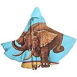 Capa para Adultos Capa de Circo Serie de Elefantes Pisada en Tortuga Unisex Traje de Capa Larga con Capucha Capa Larga Traje de Cosplay de Capa Larga