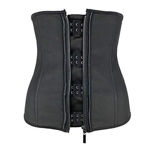 Lumbar de Cinturón Transporte de Cintura para Mujer Corsés del Cuerpo de la Cintura con Cremallera Corset Top Slimming Belt Black Shapers Shapewear Plus Tamaño Fajas Deportivas (Color : Black6XL)