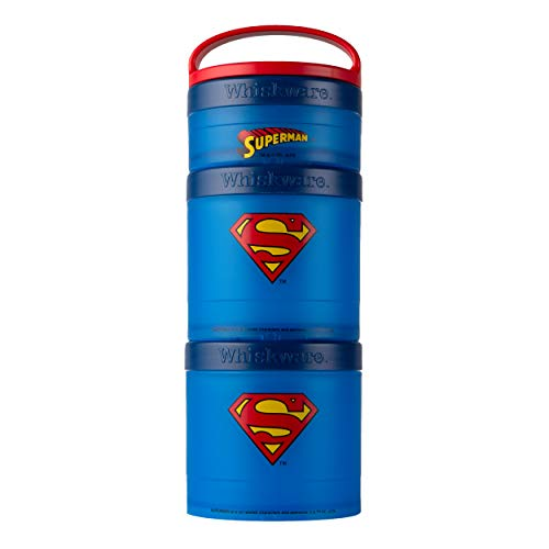 Product Image 1: Whiskware Justice League Stackable Snack Pack, Superman