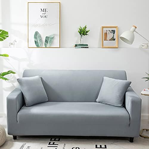 WXQY Fundas Antideslizantes elásticas de Color sólido Funda de sofá Antideslizante para Mascotas Funda de sofá para Mascotas Esquina en Forma de L Funda de sofá Antideslizante A8 3 plazas