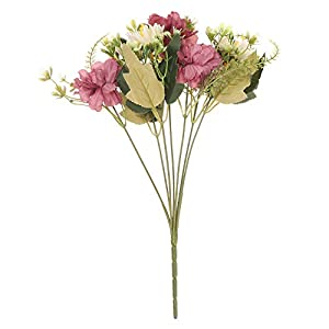 Vivid Wedding Supplies DIY Crafts Home Decoration Desktop Decor Artificial Flower Silk Camellia Fake Bouquet