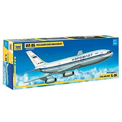 Zvezda - Modellino di Aereo passeggeriI lyushin Il - 86, in Scala 1:144
