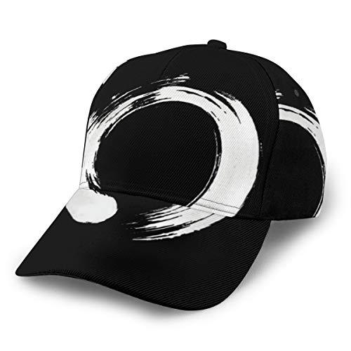 Enso Circle Baseballkappe, verstellbar, klassisch, sportlich, lässig, für Damen und Herren