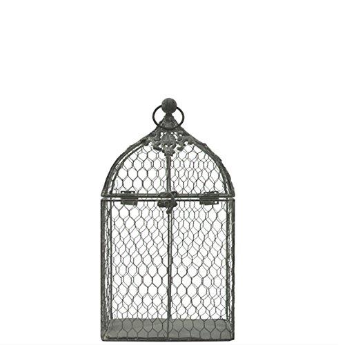 L'ORIGINALE DECO Petite Cage à Oiseaux Décoration Grillagée Gris 28.50 cm