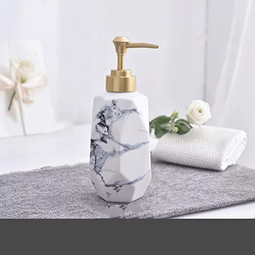 OUMIFA Dispensador de jabón Cerámicos de Uso doméstico desinfectante de la Mano Loción de Split Press Botella Hotel Bathroom Botella Champú Gel de Ducha Dispensador de jabón automático