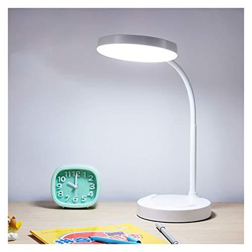 Lámpara De Escritorio LED LED LED Light SENSION Sensible Flexible DE Mesa DE Mesa Mesa LÁMPARA DE Lectura DE Lectura Oficina Blanco (Color : White)