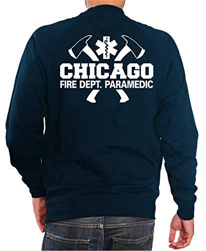 feuer1 Sweatshirt Navy, Chicago Fire Dept. mit Äxten - Paramedic