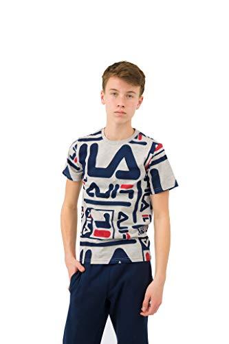 Fila Kurzärmliges T-Shirt mit klassischem Logo für Jungen - Grau - Groß