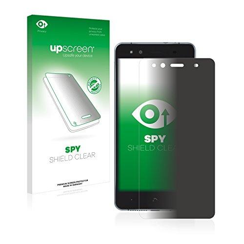 upscreen Anti-Spy Blickschutzfolie kompatibel mit BQ Aquaris X5 Cyanogen Privacy Screen Sichtschutz Bildschirmschutz-Folie