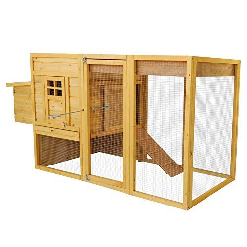 Lits pour Animaux Poulailler Pet Cage en Bois avec...