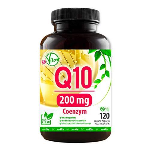 Coenzym Q10, extra hochdosiert mit 200mg pro Kapsel - 120 Kapseln im 4 Monatsvorrat, Premium Q10, MeinVita Linie, Bioaktiv, 100% Vegan, hergestellt in Deutschland
