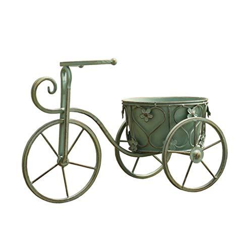 YINUO Vintage Verde Viejo Bicicleta Maceta exportación Calidad balcón jardín decoración