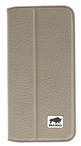 Solo Pelle iPhone 7 Plus / 8 Plus Case Lederhülle Ledertasche Wallet Tasche (Floater Taupe)