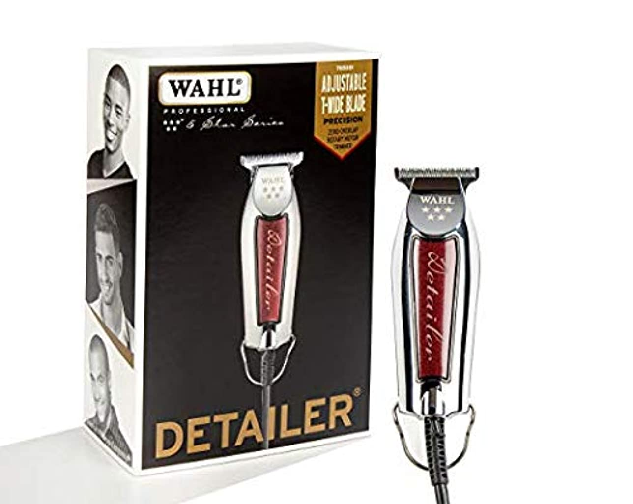 数理論的切る[Wahl ] [Professional Series Detailer #8081 - With Adjustable T-Blade, 3 Trimming Guides (1/16 inch - 1/4 inch), Red Blade Guard, Oil, Cleaning Brush and Operating Instructions, 5-Inch ] (並行輸入品)