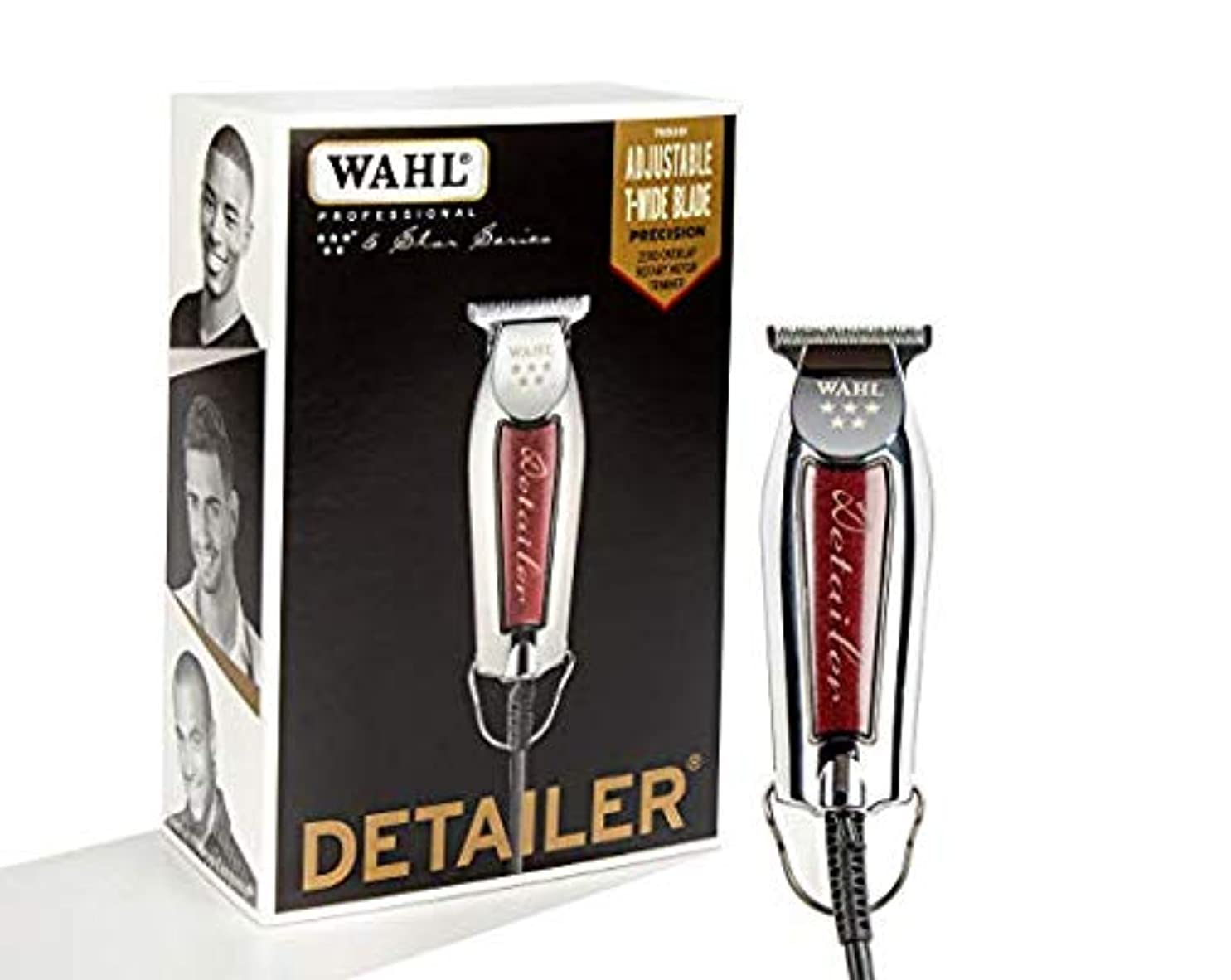 シェーバー人生を作るブランデー[Wahl ] [Professional Series Detailer #8081 - With Adjustable T-Blade, 3 Trimming Guides (1/16 inch - 1/4 inch), Red Blade Guard, Oil, Cleaning Brush and Operating Instructions, 5-Inch ] (並行輸入品)