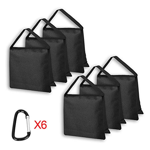 Emart Upgraded Heavy Duty Sandbag - Photo Video Studio Stage Film Weight Bags for Photo Video Studio, Light Stands Boom Arms Tripods - 6 Pack