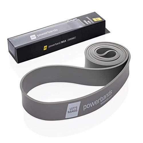 Let's Bands Powerbands MAX – Fitnessbänder für effektives Ganzkörpertraining, 5 Zugstärken, 60-tägiges gratis Online Training über Lets Bands App