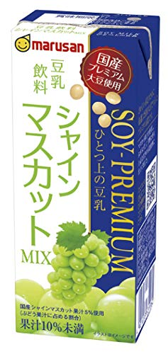 マルサン ソイプレミアムひとつ上の豆乳 シャインマスカット 200ml ×24本